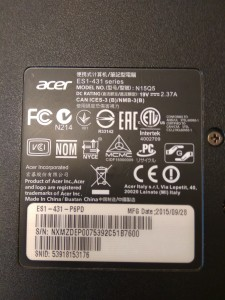 Acer Aspire es 14 3